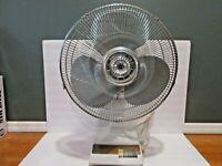 "Vintage Bestron Kuo Horng Model KH-603 3-Speed 16"" Oscillating Desk Fan"