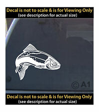 Trout vinyl decal 6 inch fly fishing outdoors 4 car truck home laptop fun more