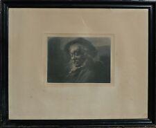 "WindowsPE. Axel TALLBERG acquaforte 1860-1928 RITRATTO UOMO ""snarkaren"" datato 1894"