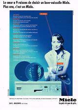 PUBLICITE ADVERTISING 064  1994  MIELE   lave vaiselle  LE COEUR