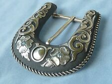 Three Piece Ranger Sterling Silver Ranger Buckle, with 3mm Topaz