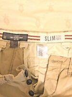 MEN'S H&M SLIM FIT PANTS - BEIGE - LABEL OF GRADED GOODS - SIZE 31