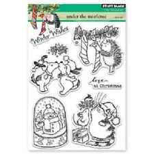 PENNY BLACK RUBBER STAMPS CLEAR UNDER THE MISTLETOE NEW clear STAMP SET