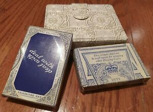 Vintage John Waddington Playing Cards In Original Three Pence Duty Wrapper Case