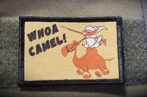 Whoa Camel Yosemite Sam Morale Patch Tactical Army Military Hook Flag USA