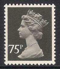 GB 1980 sg X1023 75p Black litho. ordinary paper perf 14 T367 MNH
