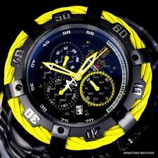 Invicta JT Thunderbolt Black Stainless Steel 54mm Swiss Mvt Yellow Watch New