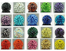 2 x Top Quality Shamballa Crystal Pave Clay Disco Ball Round Beads #4P