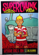 SUPERCHUNK/FILLMORE #150/1994/NEVER ROLLED/CONCERT POSTER/ART BY CHUCK SPERRY