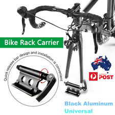 CNC Aluminum Alloy Bike Cycling Rack Carrier Quick-release Fork Mount Black