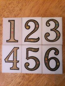 Vintage table numbers with box