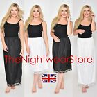"""?Waist Slip Half Full Slips Ladies Black White Underskirt Petticoat 28"""" - 39""""?"""