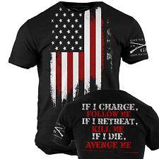 Avenge Me T-shirt - Grunt Style Military Men's Black Graphic Tee Shirt 3xl