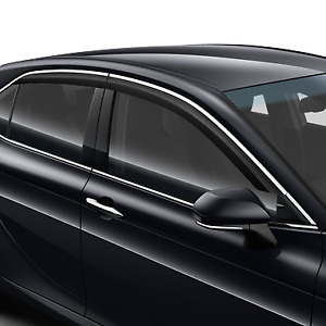 Genuine Toyota Camry 2019> Wind Deflectors with Chrome 08162-33810