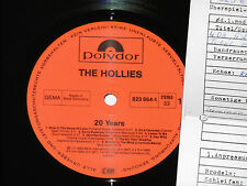 THE HOLLIES -20 Years- LP 1984 Polydor Archiv-Copy mint