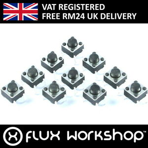 10 x 4-Pin Tactile Switch 2.54mm Micro Push PCB Arduino Shield Flux Workshop