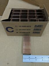 "LOT OF 20000 ISM 16025033 1-3/8"" CROWN A-STICK 3/4"" BOX CLOSING STAPLES"