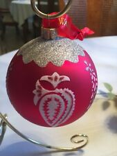 Waterford Holiday Heirlooms Holiday Tree Ball Ornament Red
