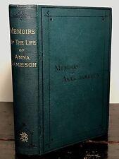 MEMOIRS OF ANNA JAMESON, Gerardine MACPHEARSON 1st/1st 1878, Excellent Condition