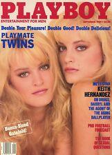 PLAYBOY SEPTEMBER 1989 Twins Mirjam & Karin Van Breeschooten Double CF Morganna
