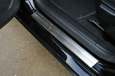 Chrome Door Sill Protectors Kick Plates Scratch Guards For Volvo V40 (2013-19)