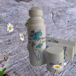 All natural organic deodorant Roll On 65ml 24H. For Women, Men