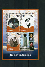 Guyana 2014 MNH Women in Aviation 4v M/S Paula McAdam Sandra Persaud Airplanes