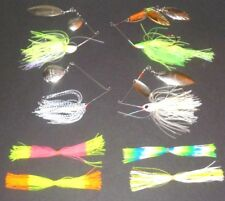 Manufacturer's Mix 1/4-3/4 Spinner Bait Package (Lot of 4+4 Extra Skirts-SB6)
