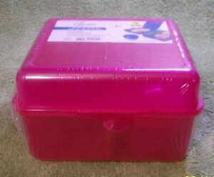 """New Pink Plastic """"ON-The-Go"""" Lunch Box"""