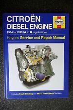 """CITROEN Diesel Engine """" BX - VISA """" 1984 - 1996 REPAIR  and  MAINTENANCE  MANUAL"""