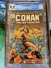 Conan the Barbarian #1 CGC 9.2 - WHITE Pages !! - 1st Conan - Marvel 1970