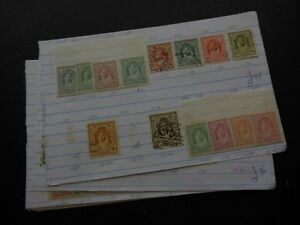 JORDAN : Mint & Used group on Old Time approval pages. Stanley Gibbons Cat £239