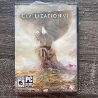 Sid Meier's Civilization VI 6 - PC DVD ROM Strategy Game - BRAND NEW Sealed