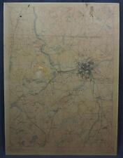 Vintage Lowell Massachusetts New Hampshire 1925 USGS Original Topo Chart Map