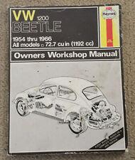 Vw 1200 Beetle 1954-1966 Haynes Owners Workshop Manual