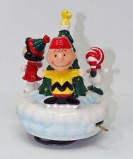 New ListingVintage Willitts Peanuts Snoopy Charlie Brown Lucy Woodstock Christmas Music Box