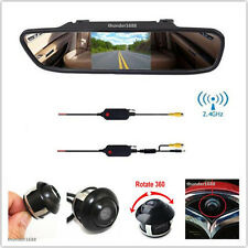 "Wireless Car Rear View Kit 4.3"" LCD Mirror Monitor + Reversing Parking Camera"