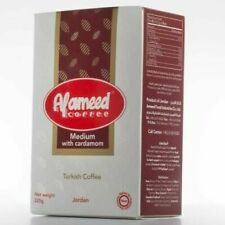 4X Al Ameed Turkish Ground Coffee with Cardamom 100% Arabica Medium Roast 250g