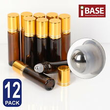 10ml Amber THICK Roller Glass Bottles Rollerball Roll on Ball For Essential Oils