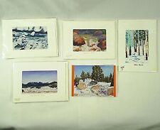 Greeting Cards Artist Signed 5 Prints Pastel Drawings Work By Raymond Kopka