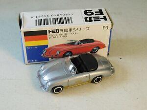TOMICA F9 Porsche 356 Speedster Rare Silver MIB Tomy Japan Diecast