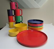 17 Pieces Mod Space Age Heller Melamine Vignelli Dinnerware Maxmug Serving
