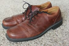 af85f648310151 Men ECCO brown leather rubber sole oxford casual dress shoes