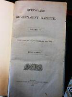 Queensland Government Gazette. Volume IV. 1863.