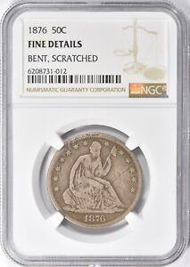 1876 Seated Liberty Half Dollar 50c NGC Fine Details