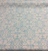 P Kaufmann Bottega Linen Gray Blue curvy Lines Upholstery Fabric by the yard