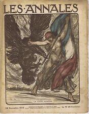 Les annales n°1690 14/11/1915 Pierre Paulus Tahure Gallieni Serbie Edith Cavell