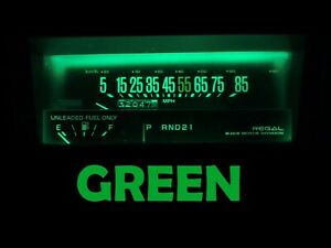 Gauge Cluster LED Dashboard Bulbs Green For Buick 84 87 Regal
