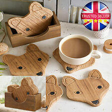 Wooden Animal Print Country Coasters