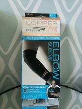 Copper Fit Freedom Infused Elbow Compression Sleeve Large New